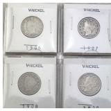 4 V Nickels - Various Dates