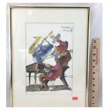 Leo Meiersdorff Signed & Framed Watercolor Print