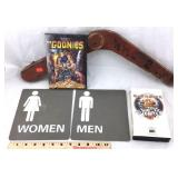 Old Wood Piece, Goonies DVD, Iron Maiden VHS