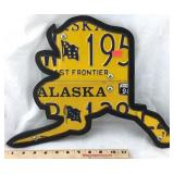 Alaska License Plate Hanging Art