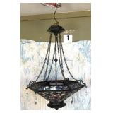 Stunning Tiffany style stained glass Chandelier