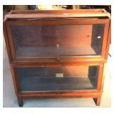 Globe Warnicke walnut two stack sectional bookcase