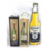 Painted Wood Wine Gift Boxes & Corona Sign