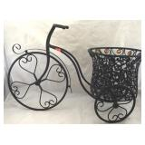 Metal Tricycle Garden Ornament with Planter
