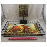 "Fall Decor Tiled Tray and ""Give Thanks"" Decor"