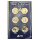 Uncirculated Susan B Anthony Dollar Set