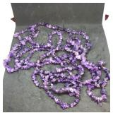 Trio of 34 Inch Strands Of Amethyst Chips