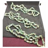 Trio of 32 Inch Strands Of African Turquoise