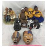 African-American Figures & African Mask Art