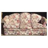 Clayton Marcus Upholstered Floral Decorated Sofa