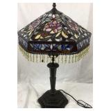 Tiffany style Stained glass parlor lamp