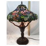 Unique Tiffany style stained-glass parlor lamp