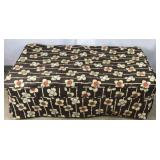 Brown and Flower Design Ottoman