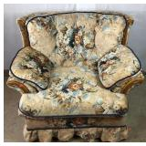 Large Floral Upholstered Chair