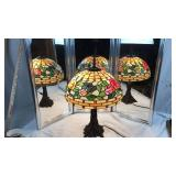 Tiffany style butterfly stained glass parlor lamp