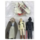 3 Star Wars Action Figures with Accessories