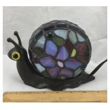 Tiffany Style Stained Glass Snail Lamp