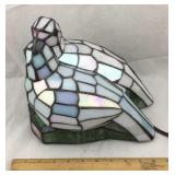 Tiffany Style Stained Glass Dove Lamp