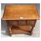 Rock maple one drawer nightstand