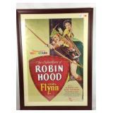 Vintage Robin Hood Errol Flynn framed poster