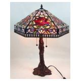 Tiffany style stained-glass parlor lamp