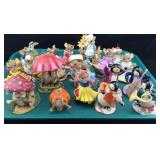 Collection of Mice and Penguin Figures