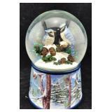 Christmas Bluebird Musical Snow Globe