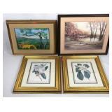 4 Framed Artwork Pieces