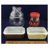Pair of Pyrex Refrigerator Dishes, English
