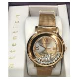 Ladies New Attention Rose Gold Tone Watch