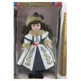 Brass Key Camellia Garden Porcelain Doll NIB