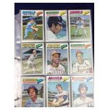540 Baseball Cards from 1977