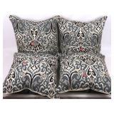 4 Like-New Decorative Sofa Pillows