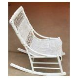 Old Whicker Rocking Chair