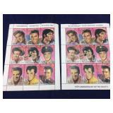 Pair of Sheets of Elvis Presley Stamps