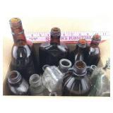 Assortment of Vintage Glass Bottles