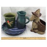 Pottery Vase, Pitcher, Planter, Pie Dish