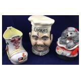 Jim Beam Decanter, Chef Cookie Jar, Shoe