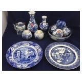 Spode, Johnson Bros Plates; Blue & White Ceramics