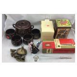 Japanese Bean Pot, Pottery Barn Cordials & More
