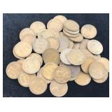 55 Wheat Cents Dates 1909 - 1940