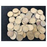 55 Wheat Pennies Dated 1909 - 1940