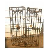 Antique iron grates or fencing panels