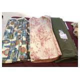Three bolts of vintage fabric