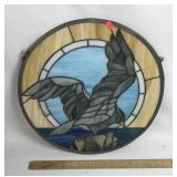 Tiffany style stained glass Seagull window panel