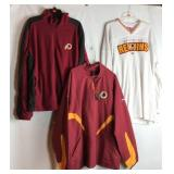 Three NFL Redskins apparel