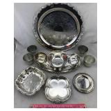 Assortment of Silverplate and Pewter