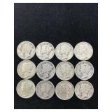 12 Mercury Dimes
