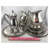 Assortment of Silverplate including Pitchers