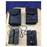Pair of Small Bushnell Binoculars With Cases
